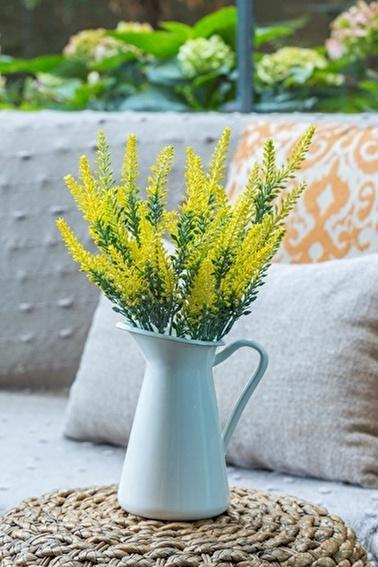 Arma House Sarı Lavanta Provence Yapay Çiçek Sarı